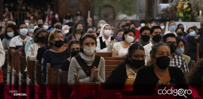 La asistencia de feligreses a misas no llega ni siquiera a 50% en la Diócesis de Querétaro. Foto: Especial