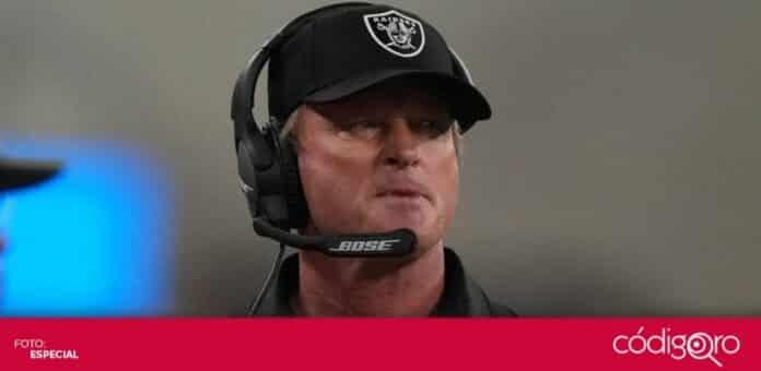 Jon Gruden renunció como head coach de los Raiders de Las Vegas. Foto: Especial
