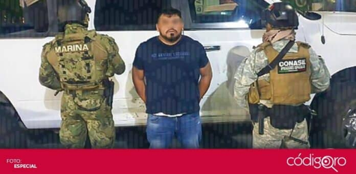 Fue detenido el presunto líder de un grupo delictivo con presencia en los estados de Querétaro e Hidalgo. Foto: Especial