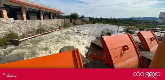 La presa Centenario seguirá desfogando 49 metros cúbicos de agua por segundo. Foto: Especial
