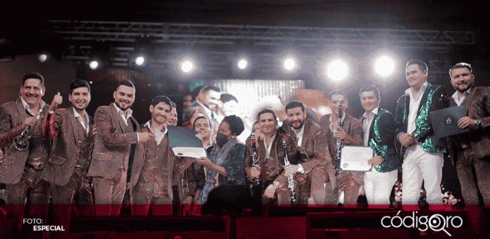 Los integrantes de Banda El Recodo agradecieron este reconocimiento y prometieron seguir
