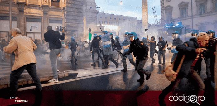 Aproximadamente 10 mil personas protestaron en Roma contra las restricciones por la pandemia